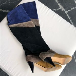 Loeffler Randal 🌎 knee height Total suede boots